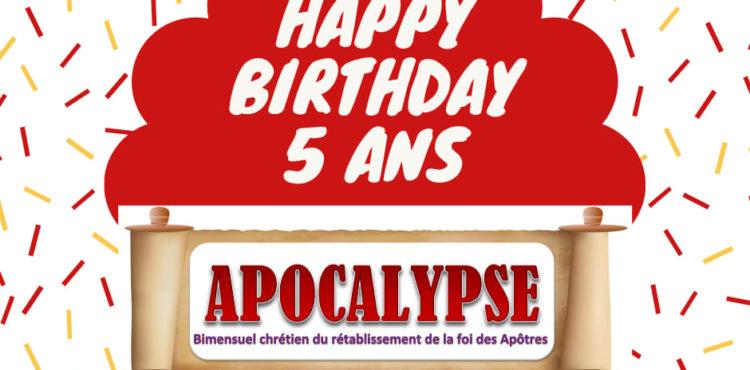 Les 5 ans du journal APOCALYPSE